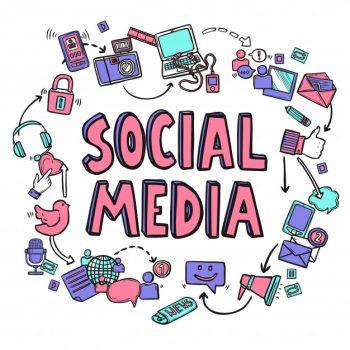 Social media by Macrovector